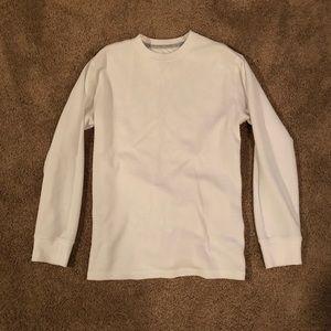 White Thermal Long Sleeved Shirt - Boys